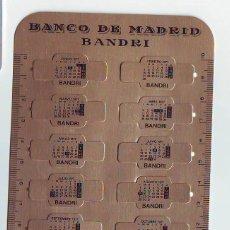 Coleccionismo Calendarios: CALENDARIO CORREA RELOJ - BANCO DE MADRID - BANDRI 1977 - METALICO ALUMINIO. Lote 85274580