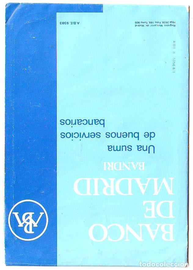 Coleccionismo Calendarios: calendario correa reloj - banco de madrid - bandri 1977 - metalico aluminio - Foto 2 - 85274580