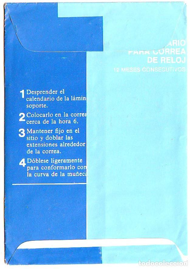 Coleccionismo Calendarios: calendario correa reloj - banco de madrid - bandri 1977 - metalico aluminio - Foto 3 - 85274580