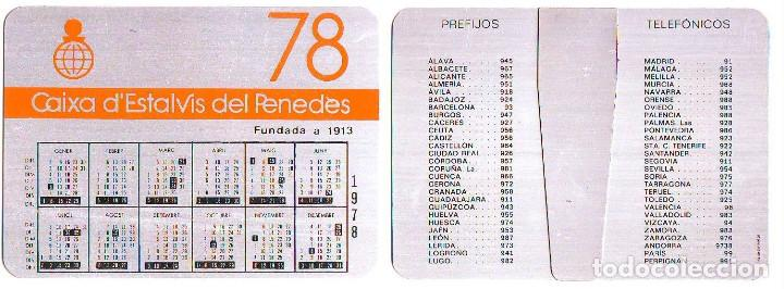 CALENDARIO SOBREMESA - CAIXA ESTALVIS PENEDES -1978 - METALICO ALUMINIO (Coleccionismo - Calendarios)