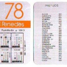 Coleccionismo Calendarios: CALENDARIO SOBREMESA - CAIXA ESTALVIS PENEDES -1978 - METALICO ALUMINIO. Lote 85274684