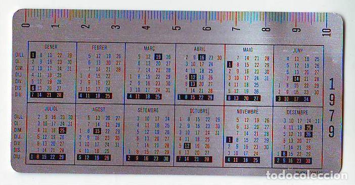 CALENDARIO - CAIXA ESTALVIS PENEDES 1979 - METALICO ALUMINIO (Coleccionismo - Calendarios)