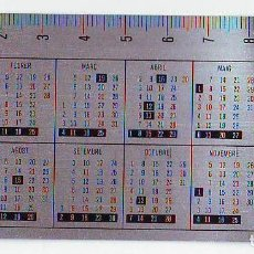Coleccionismo Calendarios: CALENDARIO - CAIXA ESTALVIS PENEDES 1979 - METALICO ALUMINIO. Lote 85274976