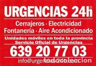 Calendario 2008.Calendario 2008 Publicidad Urgencias 24 H Cerrajeros Electricidad Fontaneria Ver Foto Reverso