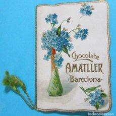 Coleccionismo Calendarios: ALMANAQUE CALENDARIO CHOCOLATE CHOCOLATES AMATLLER PARA 1909.. Lote 85657520