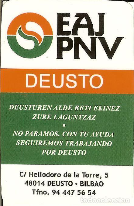 Calendario Deusto.Calendario Publicitario Politico 2008 Eaj P Sold Through
