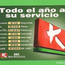 Coleccionismo Calendarios: CALENDARIO DE BOLSILLO 1997. - BANCO - CAJAS - ''BANCO BILBAO BIZKAIA KUTXA''. . Lote 86425576