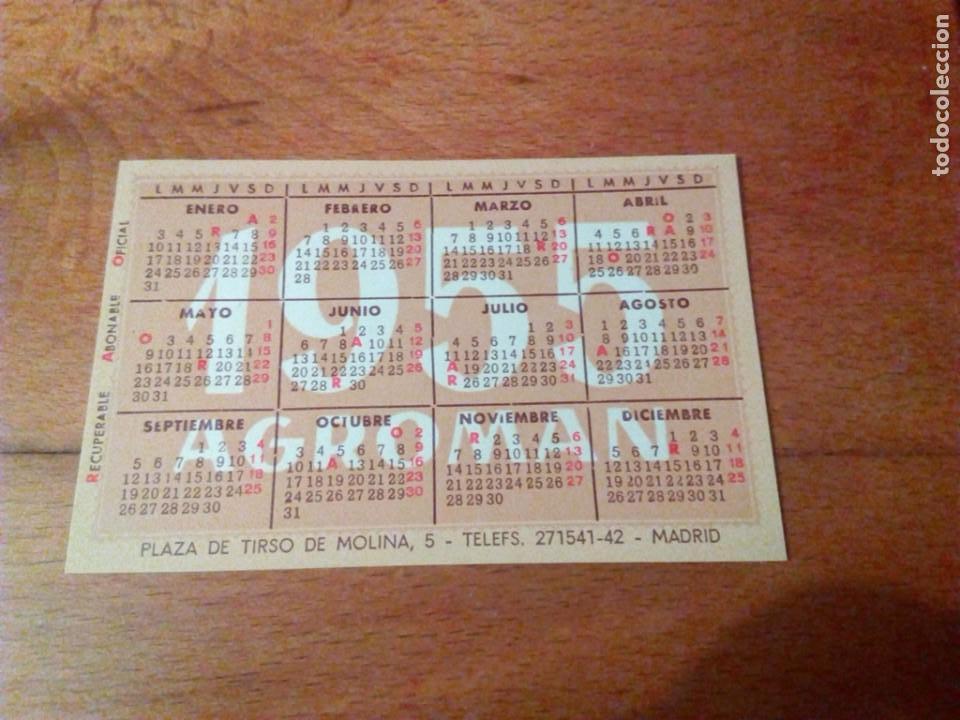 Mini Calendario.Calendario Agroman 1955 1956 Y Mini Calendari Sold