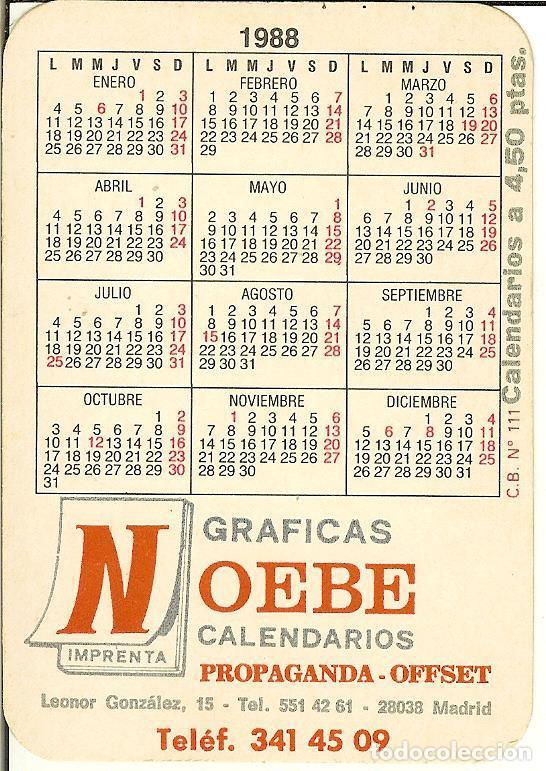 Coleccionismo Calendarios: CALENDARIO DE SERIE - 1988 - CB - 111 - Foto 2 - 86486724
