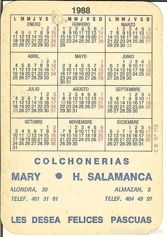 Coleccionismo Calendarios: CALENDARIO DE SERIE - 1988 - CB - 113 - Foto 2 - 86488196