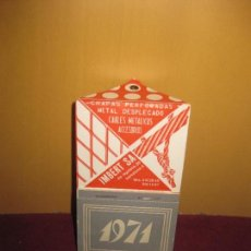 Coleccionismo Calendarios: CALENDARIO 1971. IMBERT. TRENES ELECTRICOS.. Lote 86700204