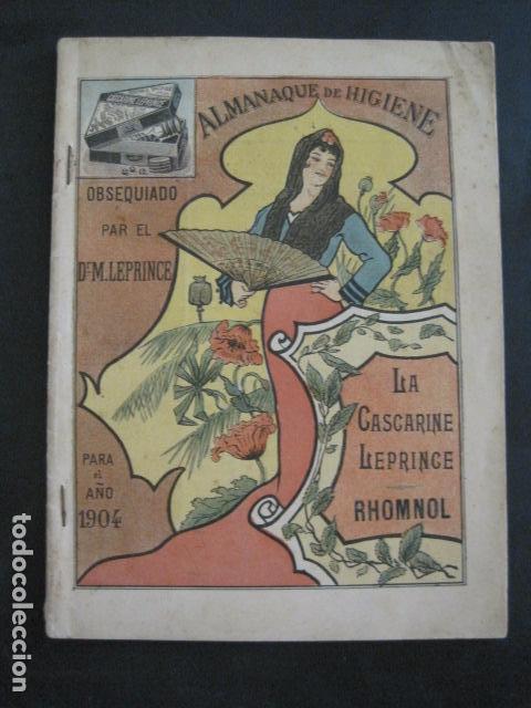 CALENDARIO - ALMANAQUE 1904 - CATALOGO FARMACIA - MUY BONITO -VER FOTOS-(V-11.071) (Coleccionismo - Calendarios)