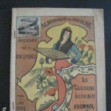 Coleccionismo Calendarios: CALENDARIO - ALMANAQUE 1904 - CATALOGO FARMACIA - MUY BONITO -VER FOTOS-(V-11.071). Lote 86742560
