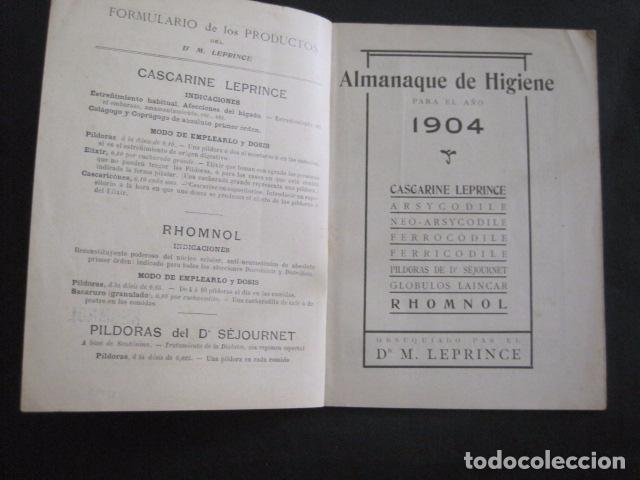 Coleccionismo Calendarios: CALENDARIO - ALMANAQUE 1904 - CATALOGO FARMACIA - MUY BONITO -VER FOTOS-(V-11.071) - Foto 2 - 86742560