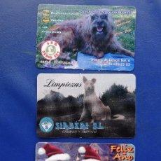 Coleccionismo Calendarios: CALENDARIO BOLSILLO (LOTE DE 3) ANIMAL 2005-2006-2010 (PERRO - PUBLICITARIOS BIZKAIA) NUEVOS. Lote 89091004