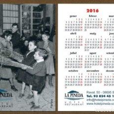 Coleccionismo Calendarios: CALENDARIOS BOLSILLO - BAGA 2016. Lote 127673834