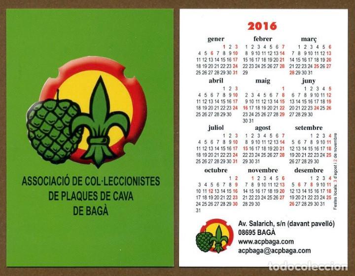 CALENDARIOS BOLSILLO - BAGA 2016 (Coleccionismo - Calendarios)