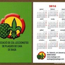 Coleccionismo Calendarios: CALENDARIOS BOLSILLO - BAGA 2016. Lote 127673794