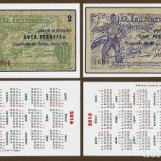 Coleccionismo Calendarios: 3 CALENDARIOS BOLSILLO - BILLETES PUEBLOS REPUBLICA 2014, 2015 Y 2016. Lote 136503200