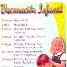 Coleccionismo Calendarios: CALENDARIO VACUNACIÓN INFANTIL. REF. 11-04L294. Lote 89686204