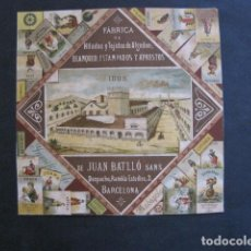 Coleccionismo Calendarios: CALENDARIO PUBLICIDAD TEJIDOS JUAN BATLLO - BARCELONA- AÑO 1888 -VER FOTOS-(V-11.792). Lote 91143855