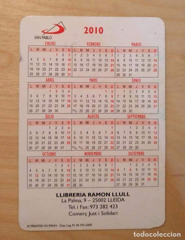 Coleccionismo Calendarios: Ca 45 Calendario 2010 - San Pablo - Llibreria Ramon Llull - Foto 2 - 91662565
