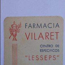 Coleccionismo Calendarios: CALENDARIO DE 1959 DE FARMACIA, BARCELONA. Lote 91761710