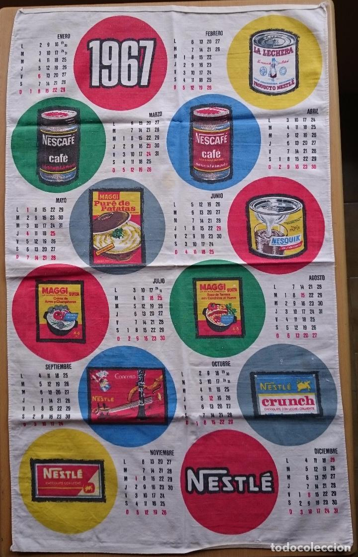 CALENDARIO TELA NESTLE 1967 (Coleccionismo - Calendarios)