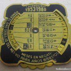 Coleccionismo Calendarios: CALENDARIO PERPETUO DE ALUMINIO 1953-1980 CON PUBLICIDAD LABORATORIO MARTIN CUATRECASAS,CIDES. Lote 92406515
