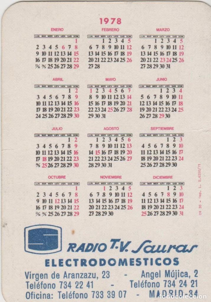 1978 Calendario.Calendarios Calendario Real Madrid 1978