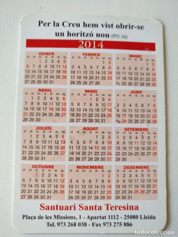 Coleccionismo Calendarios: Ca 48 Calendario Claustre del Carmel de Lisieux - Santuari Santa Teresina - 2014 - Lleida - Foto 2 - 93800300