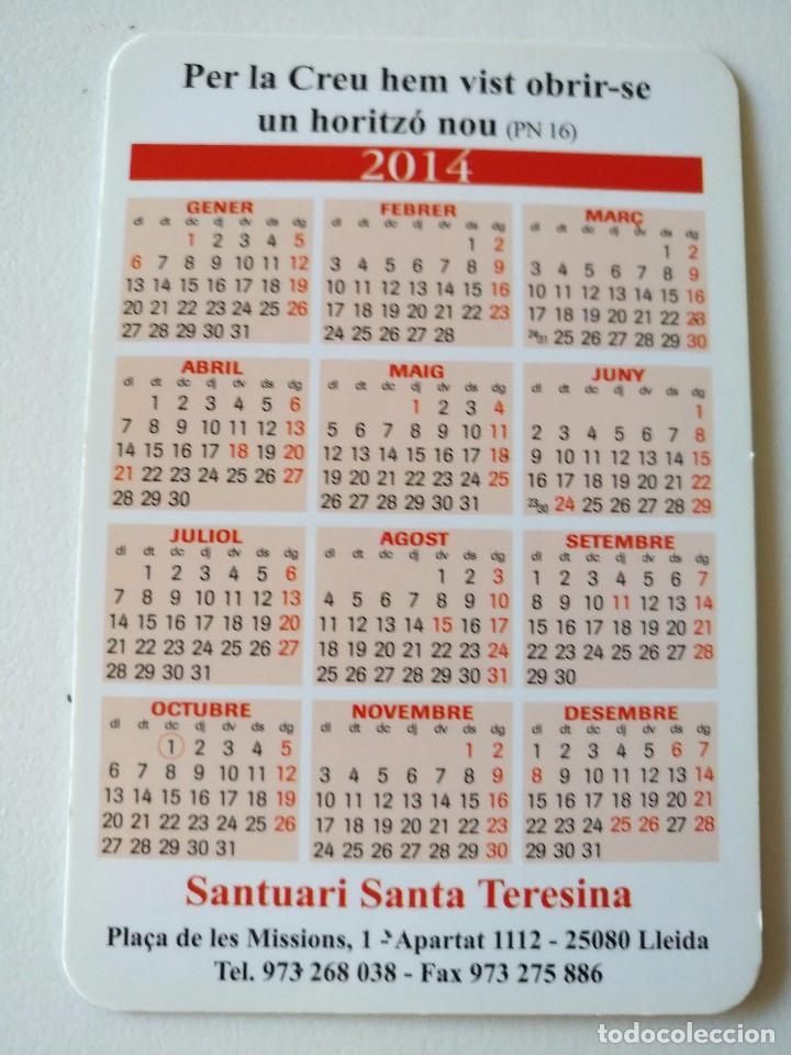 Coleccionismo Calendarios: Ca 49 Calendario Claustre del Carmel de Lisieux - Santuari Santa Teresina - 2014 - Lleida - Foto 2 - 93800430