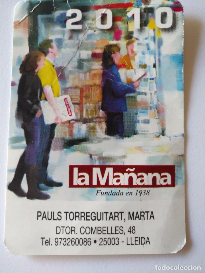 CA 50 CALENDARIO 2010 LA MAÑANA - PAULS TORREGUITART, MARTA - LLEIDA (Coleccionismo - Calendarios)