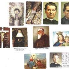 Coleccionismo Calendarios: LOTE 10 CALENDARIOS RELIGIOSOS. Lote 93958455