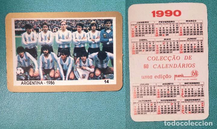 Calendario 2017 Argentina.Football Calendario Editado En Portugal 1990 Argentina 1986