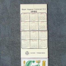 Coleccionismo Calendarios: CALENDARIO EN CERÁMICA. 1980 BAYER HISPANIA COMERCIAL.S.A. DIVISIÓN FITOSANITARIOS. 3 AZULEJOS.. Lote 94158940