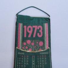 Coleccionismo Calendarios: CALENDARIO EN TELA BORDADA AÑO 1973. PERRAMON Y BADIA S.A. MANRESA.. Lote 94170060