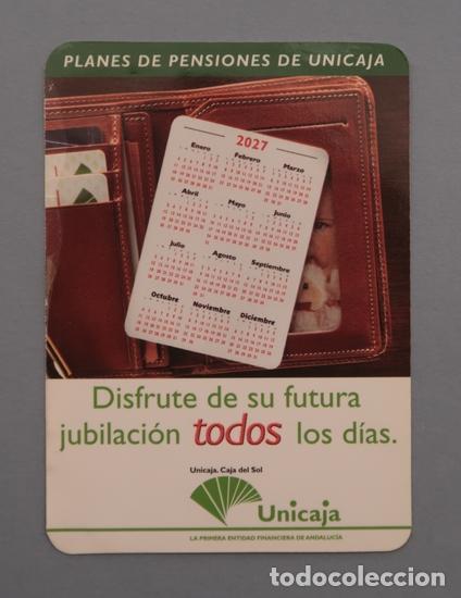 Calendario Unicaja.Calendario Bolsillo Planes De Pensiones Unicaja 2001