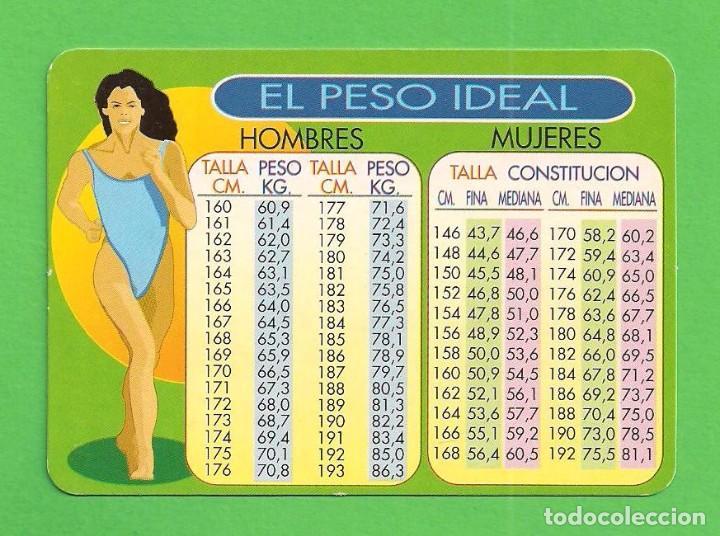 peso ideal para mujeres tabla
