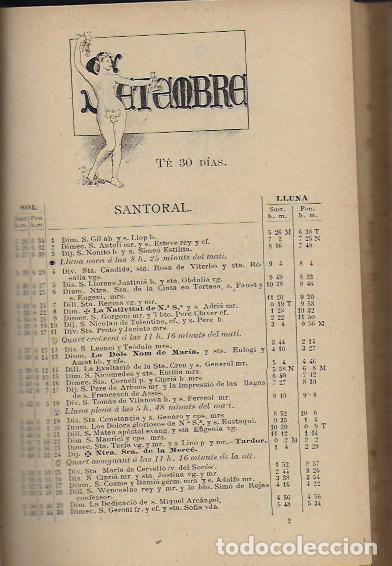 Coleccionismo Calendarios: 2 Almanach de l' Esquella de La Torratxa 1891 i 1892. 20x14cm. 190 + 192 p. - Foto 2 - 95374371