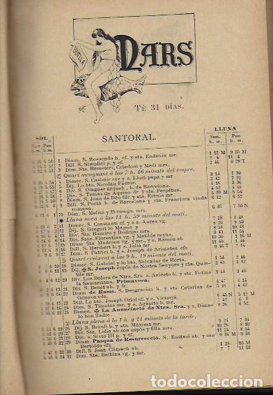 Coleccionismo Calendarios: 2 Almanach de l' Esquella de La Torratxa 1891 i 1892. 20x14cm. 190 + 192 p. - Foto 3 - 95374371