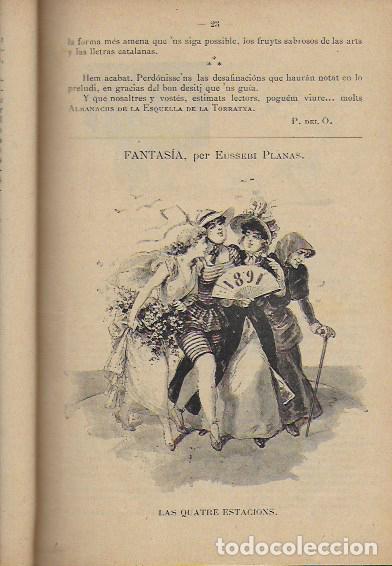 Coleccionismo Calendarios: 2 Almanach de l' Esquella de La Torratxa 1891 i 1892. 20x14cm. 190 + 192 p. - Foto 4 - 95374371