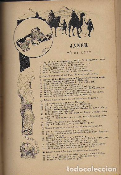 Coleccionismo Calendarios: 2 Almanach de l' Esquella de La Torratxa 1891 i 1892. 20x14cm. 190 + 192 p. - Foto 9 - 95374371