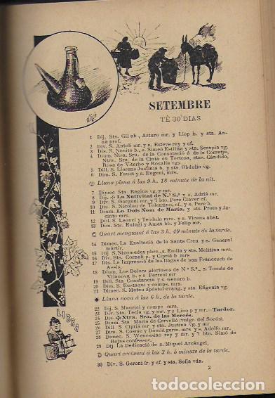 Coleccionismo Calendarios: 2 Almanach de l' Esquella de La Torratxa 1891 i 1892. 20x14cm. 190 + 192 p. - Foto 10 - 95374371
