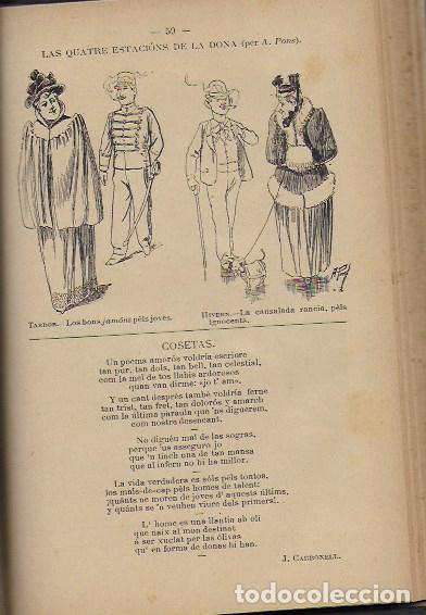 Coleccionismo Calendarios: 2 Almanach de l' Esquella de La Torratxa 1891 i 1892. 20x14cm. 190 + 192 p. - Foto 12 - 95374371