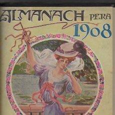 Coleccionismo Calendarios: ALMANACH DE L' ESQUELLA DE LA TORRATXA 1908. 21X14CM. 208 P.. Lote 95375103