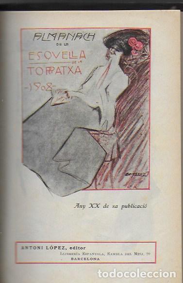 Coleccionismo Calendarios: Almanach de l' Esquella de la Torratxa 1908. 21x14cm. 208 p. - Foto 2 - 95375103