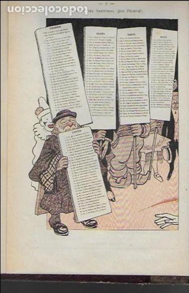 Coleccionismo Calendarios: Almanach de l' Esquella de la Torratxa 1908. 21x14cm. 208 p. - Foto 3 - 95375103