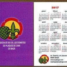 Coleccionismo Calendarios: 3 CALENDARIOS BOLSILLO - BAGA 2017. Lote 127673739