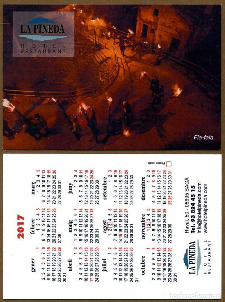 CALENDARIOS BOLSILLO - BAGA 2017 LA PINEDA RESTAURANT (Coleccionismo - Calendarios)